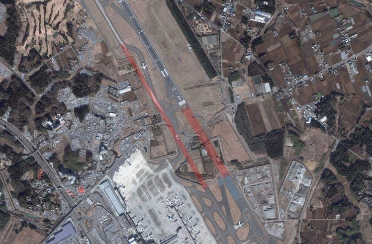 Vista Aérea - Aeroporto de Narita